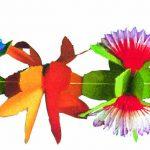 Girlande bunt mit Blüteneinsätzen 4m