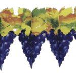 Weinlaub-Girlande mit Trauben 4m