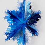 Fächer blau/silber 60cm