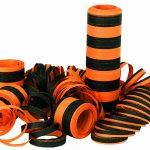 Luftschlangen 6m schwarz/orange Beutel à 3