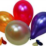 Ballon uni rund metallic assortiert Beutel à 20 91cm