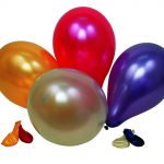 Ballon uni rund metallic assortiert 91cm Beutel à 10  + 1 Ventil