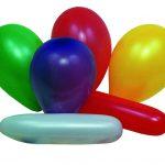 Ballon uni lang+rund assortiert Beutel à 15 + 1 Pumpe