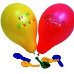Ballon bedruckt Happy Birthday assortiert 88cm Beutel à 10 + 1 Ventil