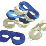 Masken assortiert blau/silber Beutel à 6