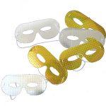 Masken assortiert Hologramm gold/silber Beutel à 6