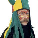Hut Wikinger rot/grün/gelb mit Schulterbehang