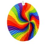 Lampion spitz regenbogenfarbig 46cm