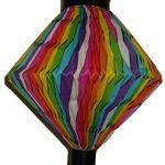 Faltampel regenbogenfarbig 25cm