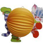 Tierlampion Katze orange