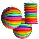 Lampion-Set Regenbogen