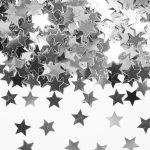 Tischkonfetti Sterne silber