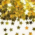 Tischkonfetti Sterne gold